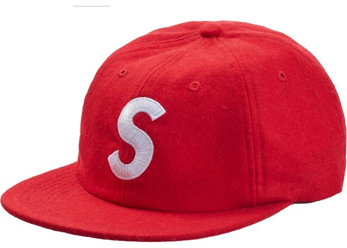 Supreme Wool S Logo 6-Panel FW19- Red